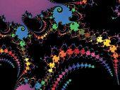 Patterned fractal background