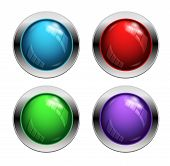 Shiny vector buttons
