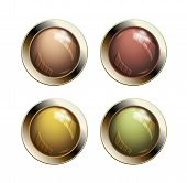 Old shiny buttons