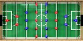 Foosball Table Top View