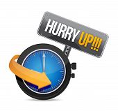 Hurry Up Watch Message Illustration