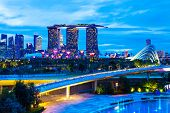 stock photo of singapore night  - Singapore night - JPG