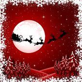 Santa on red background
