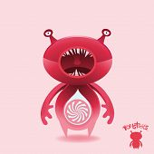 Monsters - Pink Candy Cruncher