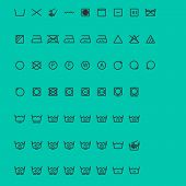 Wash Icons. Vector
