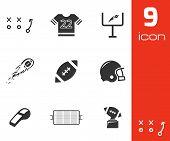 Vector black football icons set