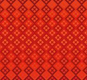 Red Background Diamonds Geometry Seamless Decoration Elegance