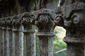 Old balcony pillars
