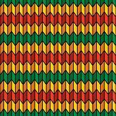 Background Seamless Pattern In Rasta Colors