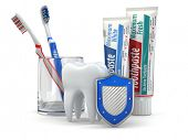 stock photo of toothpaste  - Dental protection - JPG