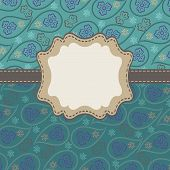Paisley Background In Mens Design Template Or Artwork