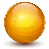 3D sphere, orange vector ball.