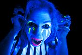 Woman Black Light Scary