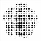Abstract Flower With Halftone Effect