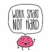work smart not hard vector illustration