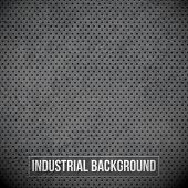 Black Metal Grid. Vector background