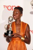 LOS ANGELES - FEB 22:  Lupita Nyong'o at the 45th NAACP Image Awards Press Room at Pasadena Civic Au