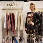 Model Posing At Mipap Trade Show In Milan, Italy
