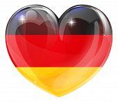 German Flag Love Heart