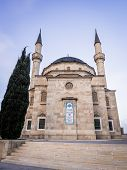 stock photo of mosk  - Sehidler Mescidi Mosque in the center of Baku - JPG