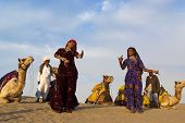 Cultural Dance At Sam Sand Dune In Jaisalmer