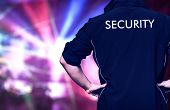 picture of bodyguard  - Bouncer at work in a discotheque - JPG