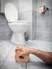 picture of laxatives  - Concept image of digestive problems and difficulties in the toilet - JPG