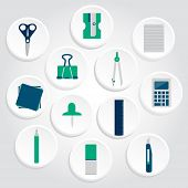 Icons Of Office Supplies