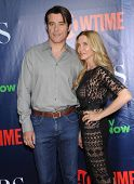 LOS ANGELES - JUL 17:  Goran Visnjic & Ivana Vrdoljak arrives to the CBS-CW-Showtime Summer TCA Press Tour 2014  on July7, 2014 in West Hollywood, CA.