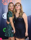 LOS ANGELES - JUL 17:  A.J. Cook & Kirsten Vangsness arrives to the CBS-CW-Showtime Summer TCA Press Tour 2014  on July7, 2014 in West Hollywood, CA.