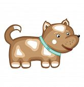 brown dog isolated on white (vector illustration)