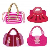 collection of fashion bag (vector illustration)