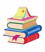 Stack of textbooks. Back To School. Vector Illustrations