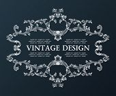 Vector vintage royal old frame ornament decor black illustration