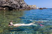 snorkeling in Mediterranean Sea, France