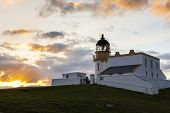 Stoer Lighthouse during sunset, Highlands, Scotland