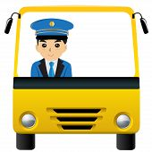 image of bus driver  - Bus driver carman driver white space isolated - JPG