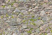 picture of stonewalled  - Antique natural stonewall old stones in different sizes - JPG