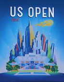 US Open 2014 poster on display at the Billie Jean King National Tennis Center