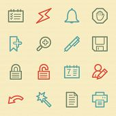 Scheduler web icons, retro color