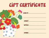Gift certificate template funny design