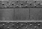 Black medieval wooden door background