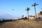 Promenade Lined With Hotels Along Durban's Golden Mile