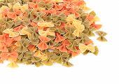 Italian pasta farfalle.