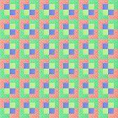 Colorful cotton scraps for quilt project