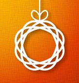 Circle Paper Applique on Orange Background.
