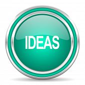ideas green glossy web icon