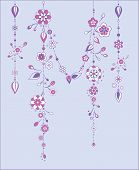 stock photo of windchime  - Illustration of Decorative Wind Chimes with floral ornament design - JPG