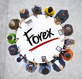 Multiethnic Group of Business People with Forex