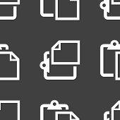 blank paper web icon. flat design. Seamless pattern.